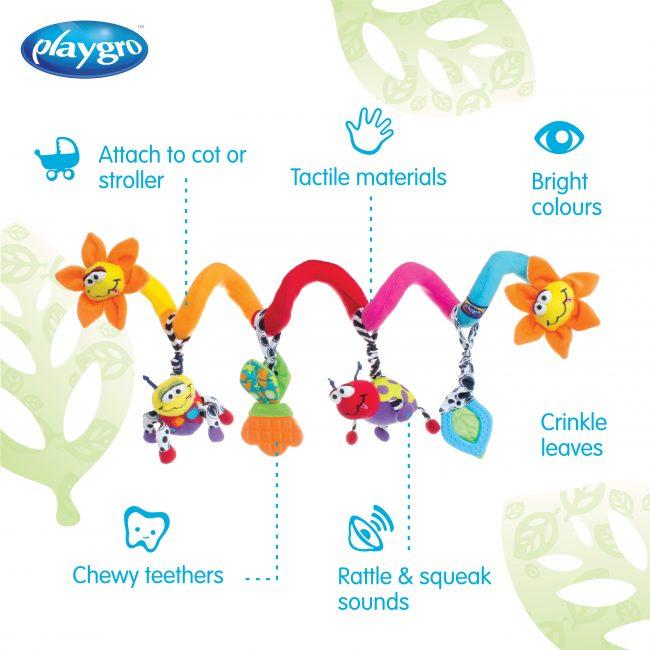 111885 Playgro Amazing Garden Twirly Whirly